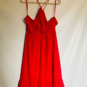 Monteau Summer Spring Spaghetti Straps Dress
